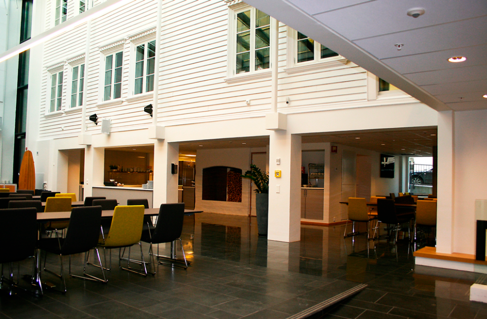 Innvending gårdsrom ble til kantine i Sjøfartsbygget Østensjø og Hagland