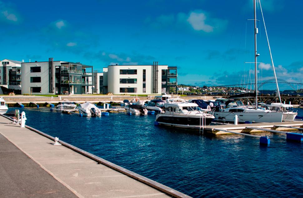 Båtplass og leilighet - Rossabø Havn i Haugesund