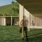 Gode overdekkede utearealer danner et samlende tun på skisseforlaget til Arkitektkontoret Brekke Helgeland Brekke AS for ny o- hytte i Djupadalen, Haugesund
