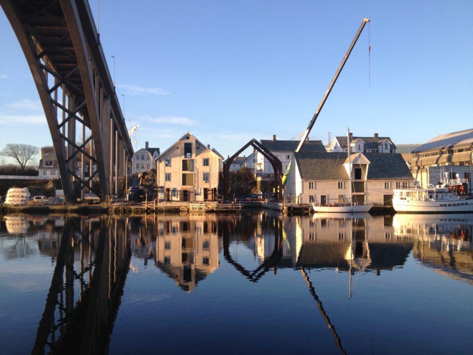 Naust ved Smedasundet Haugesund