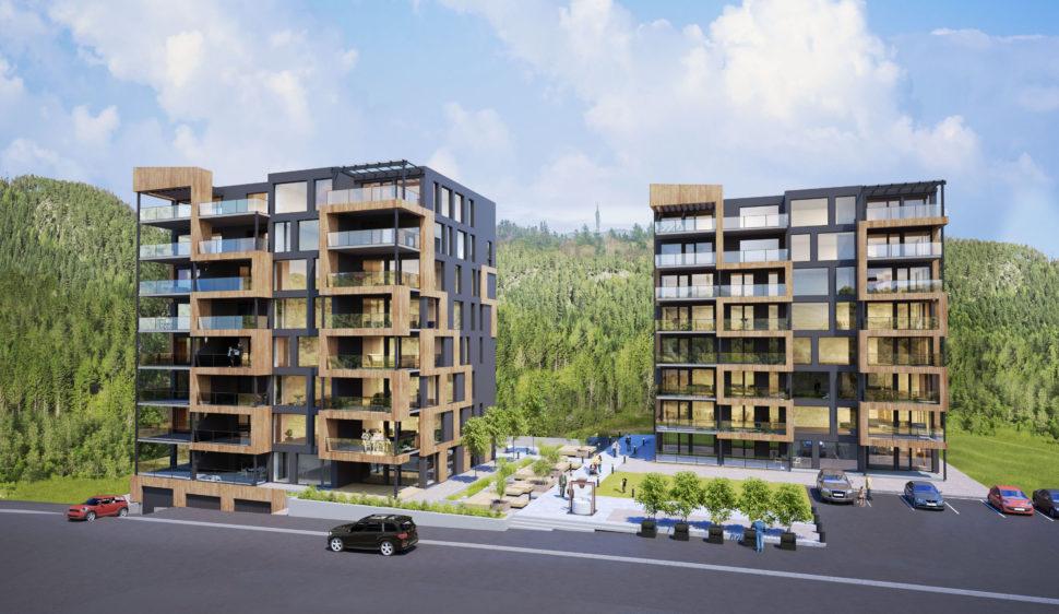 Arkitektkontoret Brekke Helgeland Brekke AS står bak Kvednatunsutbyggingen